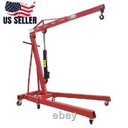 0.5-2TON Red 4400lbs Heavy Duty Engine Motor Hoist Cherry Picker Shop Crane Lift