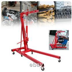 0.5-2 TON 4400lb Heavy Duty Engine Motor Hoist Cherry Picker Shop Crane Lift