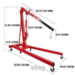 0.5-2 TON Heavy Duty Engine Motor Hoist Cherry Picker Shop Crane Lift 4400lb