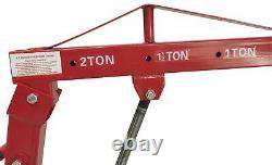 0.5-2 TON Red 4400lb Heavy Duty Engine Motor Hoist Cherry Picker Shop Crane Lift