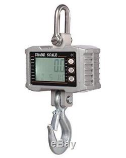 1000KG 1Ton 2000 LBS Digital Crane Scale Heavy Duty Hanging Scale OCS-S in UKS