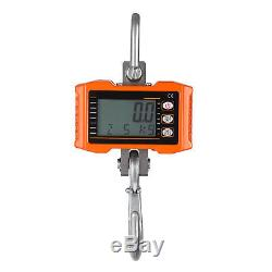 1000KG 1Ton 2000 LBS Digital Crane Scale Heavy Duty Hanging Scale Orange in UKS