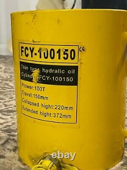 100 TON HYDRAULIC JACK Hydraulic Cylinder Large Heavy Duty