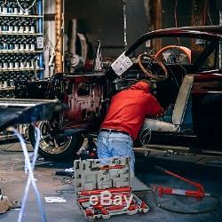 10 Ton Capacity Hydraulic Jack Air Pump Lift Ram Body Frame Repair Tool Kit