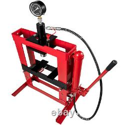 10 Ton Hydraulic Shop Press Floor Stand Jack Heavy Duty Portable with Gauge