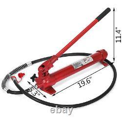 10 Ton Porta Power Hydraulic Jack Auto Body Frame Repair Kit Lift Ram