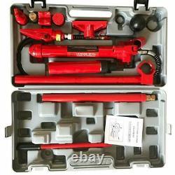 10 Ton Porta Power Hydraulic Jack Auto Body Frame Repair Tool Lift Ram Kits
