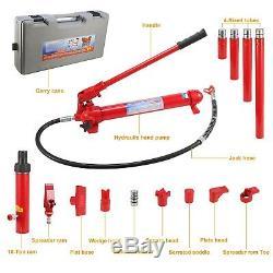 10 Ton Porta Power Hydraulic Jack Body Frame Repair Kit Auto Shop Tool Heavy Set