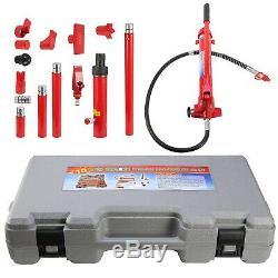 10 Ton Porta Power Hydraulic Jack Body Frame Repair Kit Auto Shop Tool Set Heavy