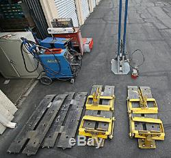 10-ton Chassis Liner Drive On Flat Rack Auto Frame Straightener Floor System