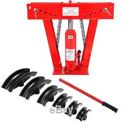 12 Ton Heavy Duty Hydraulic Pipe Bender Tubing Exhaust Tube Bending with 6 Dies
