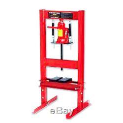12 Ton Hydraulic Floor Standing Shop Press Heavy Duty Open Front & Rear Design