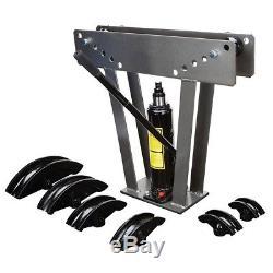 12 Ton Hydraulic Pipe Bender Tubing Metal Tube Exhaust Heavy Duty Bending Steel