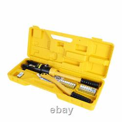 12 Ton Hydraulic Wire Battery Cable Lug Terminal Crimper Crimping Tool with Case