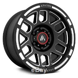 17 Wheels Rims Matte Black 8x165.1 8x6.5 17x8 Asanti XD Moto Fuel Grid