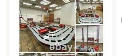 18 Feet Long Auto Body New Frame Machine 20 Ton 2 Towers, Tools Bench, Cart