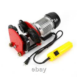 1Ton Electric Wire Rope Hoist With Trolley 2200lbs 4ft All-copper Motor HeavyDuty