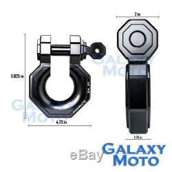 1 Set 3/4 Large Black 5.0 Ton Aluminum D-Ring Bow Anchor Shackle Heavy Duty