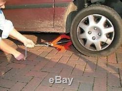 1 T Ton Tone Scissor Heavy Duty Wind Up Jack For Car Van Crank Speed Handle New