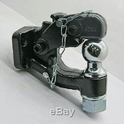 1pcs Hitch Pintle Hook Towing Heavy Duty 8 TON Combination 4 Bolt Suit Truck 4x4