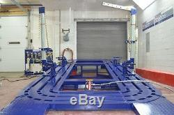 20 Feet Long Auto Body Frame Machine 20 Tons = 2 Towers With Tools And Cart