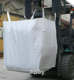 20 HeavyDuty Bulk bagS 35x35x43 FIBC(Sack)Ton bag 3000LB garbage bag earthwork