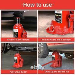 20 Ton Hydraulic Low Profile Bottle Jack Lift HEAVY DUTY Automotive Car Truck