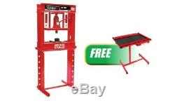 20 Ton Manual Shop Press withFREE Adjustable Heavy Duty Work Table with Drawer