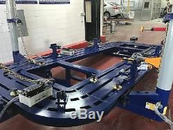 22 Feet Long Auto Body Frame Machine 30 Ton = 3 Towers + Clamps Tools Cart Bench