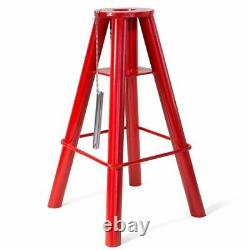 2PC 10 Ton Heavy Duty Jack Stand Pin Type Heavy Duty Adjustable Height Red