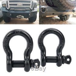 2PC 3/4 D-ring Shackle-Heavy Duty 4.5 Ton for Jeep Off Road Truck Towing