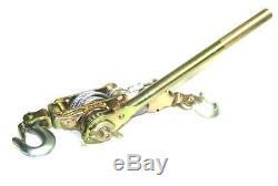 2 Ton H D Hand Puller Come Along Cable Hoist 2 Hooks 4400lb Heavy Duty Comealong