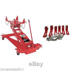 2 Ton Heavy Duty Truck Transmission Jack with Free Adapters For Eaton & Fuller