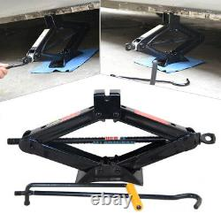 2 Ton Heavy Duty Wind Up Scissor Lift Crank Stands Auto Car Speed Handle Jack