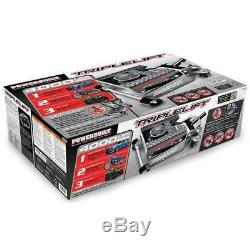 2 Ton Triple Lift Floor Jack Flexible Hydraulic Heavy Duty Auto Garage Shop Tool