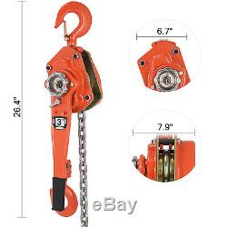 3Ton 5FT Ratcheting Lever Block Chain Hoist Puller Pulley Heavy Duty Use
