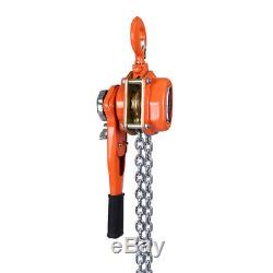 3Ton 9.84FT Ratcheting Chain 3MLever Block Hoist Puller Pulley Heavy Duty USA