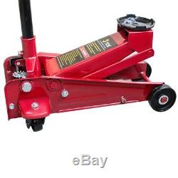 3Ton Heavy Duty Steel Floor Jack with Rapid Pump Lift Car Vehicle Garage Shop
