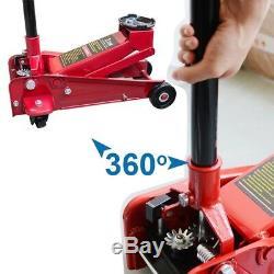 3Ton Heavy Duty Steel Floor Jack with Rapid Pump Lift Car Vehicle Garage Shop CE