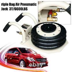 3Ton Triple Bag Air Jack Pneumatic Jack Quick Lift Heavy Duty Jacking 6600 LB US