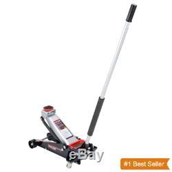 3 1/2 Ton Heavy Duty Steel Floor Jack with Rapid Pump Lift SUV Car Garage Shop