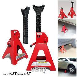 3 / 6 Ton Lifting Capacity Axle Jack Stand Heavy Duty Caravan Car Floor Jack