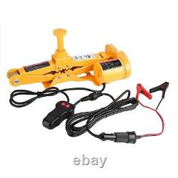 3 Ton 12V DC Heavy Duty Auto Electric Jack Lift Car SUV Tool with Impact Wrench US