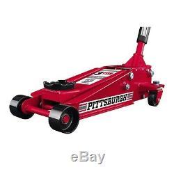 3 Ton (6,000 Lbs.) Heavy Duty Rapid Pump Floor Jack Garage Shop Home Use