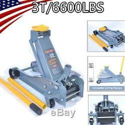 3 Ton Floor Jack Service Arcan Heavy Duty Steel Low Profile Rapid Pump Car US