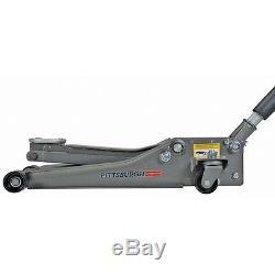 3 Ton Floor Jack w Stands Combo Set Low Profile Heavy Duty Steel Rapid Pump Lift