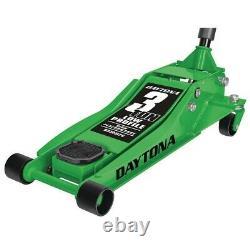 3 Ton Floor Professional Jack Heavy Duty Low Profile Rapid Quick Pump Daytona