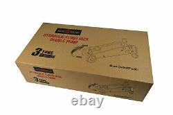 3 Ton Heavy Duty Double Pump Hydraulic Trolley Jack Car Van 4x4 Jeep Floor Jack