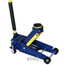3 Ton Heavy Duty Floor Jack, Steel Service Jack with Double Pump Quick Rise