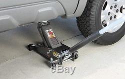 3 Ton Heavy Duty Steel Floor Jack with Rapid Pump Garage Shop Home Lifting